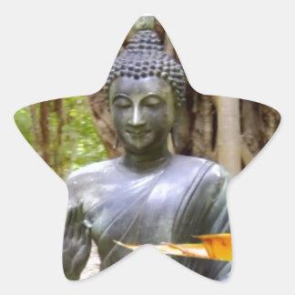 BUDDHA Buddhism Peace Star Sticker