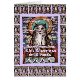 Buddha Cat Four Noble Truths Greeting Card