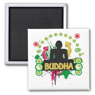 Buddha Color Trip Fridge Magnet