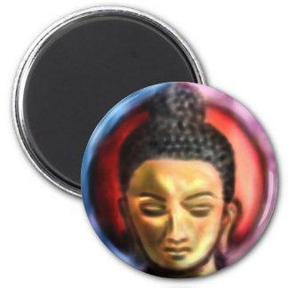 Buddha Dusk/dawn 6 Cm Round Magnet