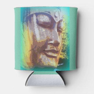 buddha face green can cooler
