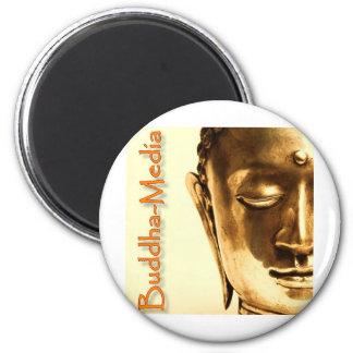 BUDDHA Gold 2 6 Cm Round Magnet