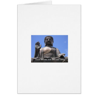 Buddha - Good fortune, luck and wellbeing Card