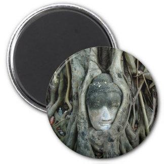 Buddha Head 6 Cm Round Magnet