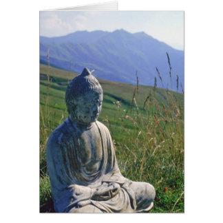 Buddha in Meadow Card