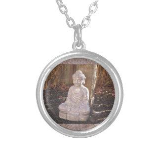 Buddha in Meditation Statue Religion Spiritual fun Necklaces
