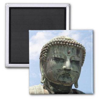 buddha kamakura face square magnet