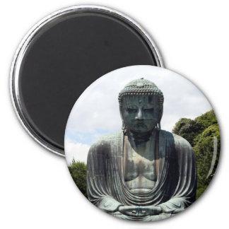 buddha kamakura sit 6 cm round magnet