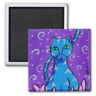 Buddha Kitty Square Magnet