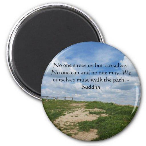 Buddha Path Quote Fridge Magnet