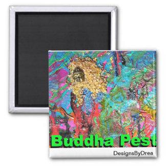 Buddha Pest Square Magnet