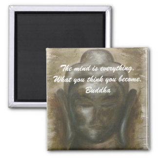 Buddha quotation on painted buddha background magnets