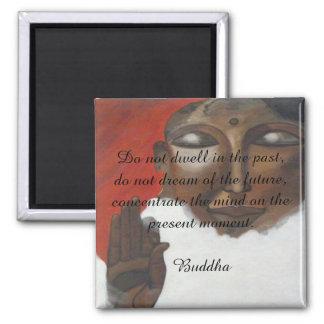 Buddha quotation on painted budha magnet