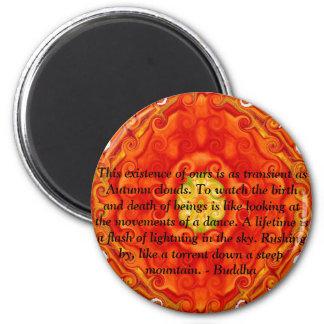 Buddha quote inspire motivational 6 cm round magnet