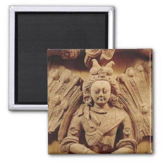 Buddha Sakyamuni, from Tumshuq  6th-7th century Square Magnet