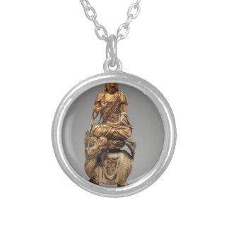 Buddha Shakyamuni with attendant bodhisattvas Silver Plated Necklace