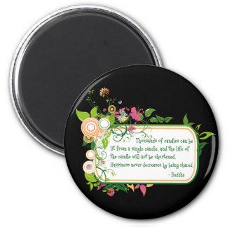 Buddha Single Candle Quote Refrigerator Magnets