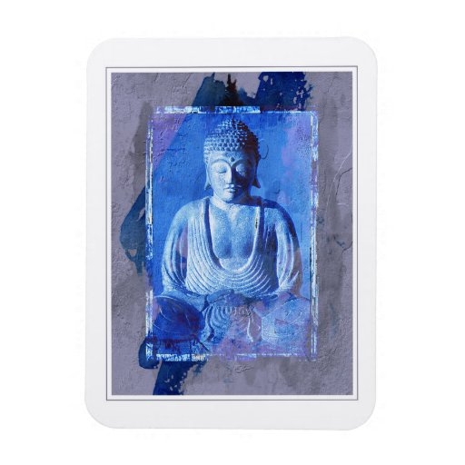 Buddha Sitting Vinyl Magnets