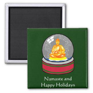 Buddha Snow Globe Magnet