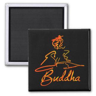 Buddha sqigle square magnet
