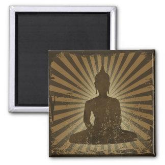 Buddha Square Magnet