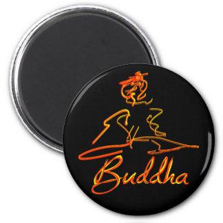 Buddha squigle 6 cm round magnet