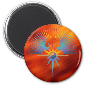 Buddha Star 3D 6 Cm Round Magnet