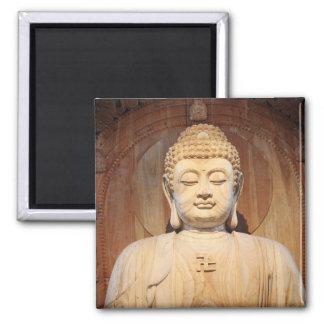Buddha-Statue-Digital-Art1 Square Magnet