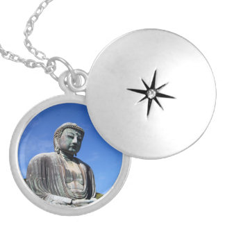 Buddha Statue in Kamakura, Japan Silver Plated Necklace