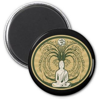 Buddha Under the Bodhi Tree 6 Cm Round Magnet