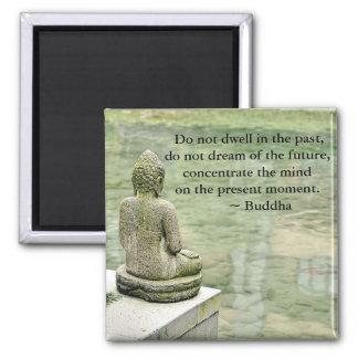 Buddha Zen Spiritual Inspirational Enlightenment Square Magnet