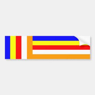 Buddhism - Buddhist Flag Bumper Stickers