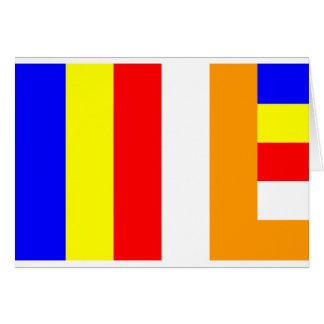 Buddhist Flag Card