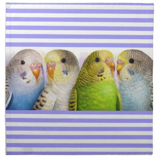 Budgerigars realistic painting napkin
