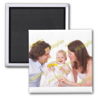 Budget Special Family Photo Template Square Magnet