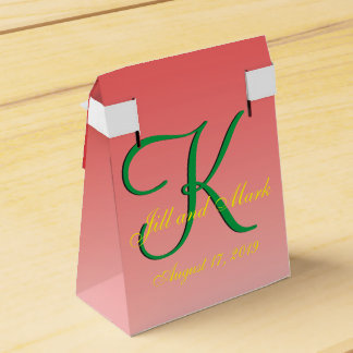 Budget Wedding Red Favour Box