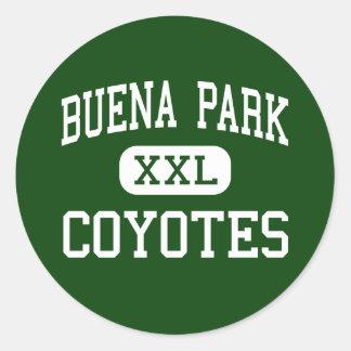 Buena Park - Coyotes - High - Buena Park Classic Round Sticker