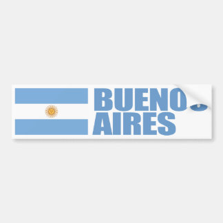 Buenos Aires, Argentina Flag Bumper Sticker