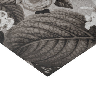 Buff Gray Taupe Vintage Floral Toile No.1 Tissue Paper