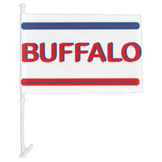 Buffalo Car Flag