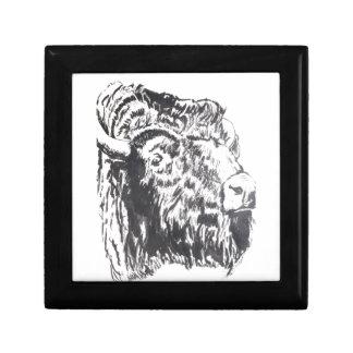 Buffalo Head Small Tile Gift Box