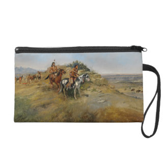 Buffalo Hunt, 1891 (oil on canvas) Wristlet