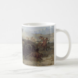 Buffalo Hunt No. 26 by CM Russell, Vintage Indians Coffee Mug