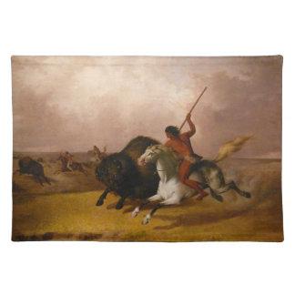 Buffalo Hunt on the Southwestern Plain Placemat