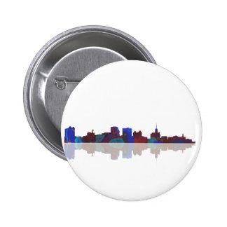 Buffalo New York skyline 6 Cm Round Badge