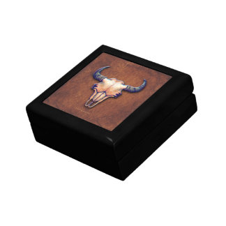 Buffalo Skull Painting Texture Look Gift Box