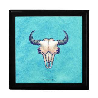 Buffalo Skull Turquoise Gift Box