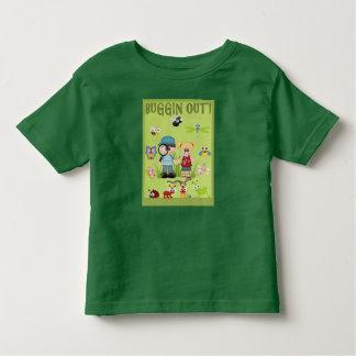Bug Hunting Green Ant Cricket Bee Caterpillar Toddler T-Shirt