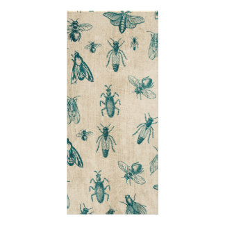 Bug Insects Pattern Background Rack Card Template