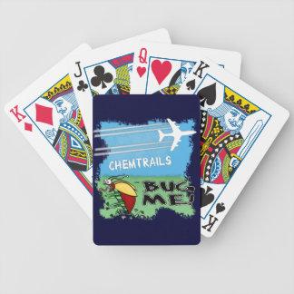Bug running away from chemtrail plane poker deck